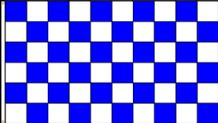 "CHECKERED BLUE & WHITE - 18"" x 12"" flag"